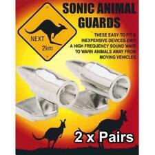 2 Pairs Animal Repeller Sonic Shoo Whistle Kangaroo 4WD Car Truck Chrome