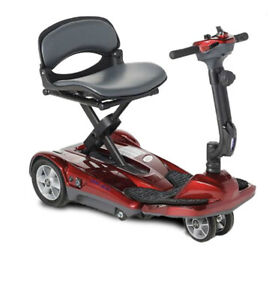 NEW EV Rider AF Automatic Folding Mobility Scooter - Red