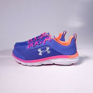 Size 5Y Youth / 6.5 Women's Under Armour Assert 8 Sneakers Blue/Pink
