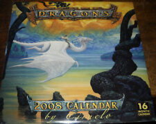 Sealed 2008 Dragons 16 Month Wall Calendar Ciruelo Cabral