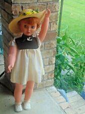 "Red Head Uneeda Doll Circa 1960's 31"" Tall Cute Doll in Cute Outfit"