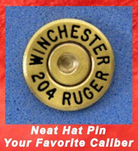 WINCHESTER 204 RUGER Hat or Jacket Pin - Tie Tac Bullet