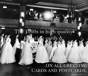 38. Queen Charlotte's Ball 1966. Quality 1960s Greeting Card. Chelsea London