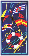 "30""x60"" Nautical Flags Beach Towel"