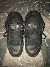 DC Shoes Manteca Model Mens Leather Athletic Skate Shoes Size 9.5 Black
