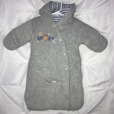 CHILD OF MINE by CARTER'S Baby Boys Gray Fleece Hooded Bunting for Car Seat 0-3M