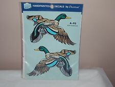 Vgt 1977 Decoral Handpainted Waterslide Decal Mallard Ducks  A-93 New Old Stock