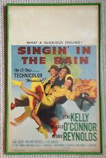 singin in the rain original film poster window card