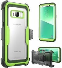 i-Blason Galaxy S8+ Plus Case Armorbox No Screen Protector Holster Belt Clip 17