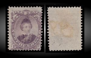 1865 NEWFOUNDLAND EDWARD VII AS PRINCE OF WALES 1C VIOLET NO GUM SCT 32 SG.34