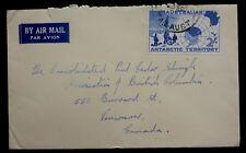 1950'S AUSTRIAN ANTARCTIC TERRITORY  AIR MAIL COVERS  #L4 SINGLE FRANKED HIGH VA