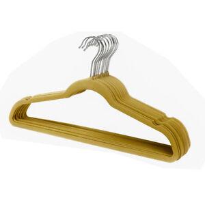 Ultra Thin No Slip Camel Velvet Suit Dress Shirt Hanger Set of 25