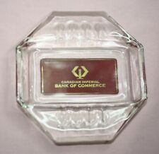 Vintage Bank Ashtray Canadian Imperial Bank Of Commerce Advertising Collectibl