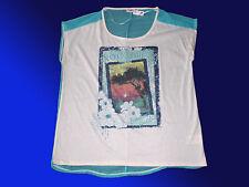 Chic T-Shirt pour Femme Tunique - Chemise Longue- Blouse Shirt de Moi Gr. 44/46