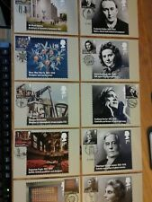 2012 BRITONS OF DISTINCTION PHQ 360 SET OF 10 STAMP CARDS FDI FRONT PICTORIAL HA
