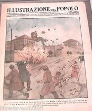 L ILLUSTRAZIONE DEL POPOLO Esplosione Torino Gazelle Zingari Diga a Serbatoi di