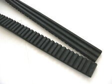 Ribbed Grooved Anti vibration Rubber Strip mat pad 25Wx 1000Lx 10mmT foot mount