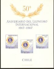 CHILE 1967 TWO SS #15/15a MNH LIONS CLUB