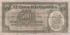 COLOMBIA NOTE  $500 1964 6 DIGITS FINE
