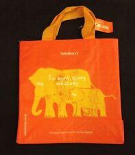 Elephant Eco Tote Bag Reliabag Sainsburys UK Orange Reuse Recycled Plastic New