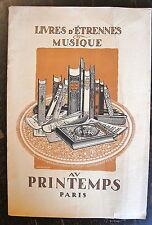 CATALOGUE LIVRES D'ETRENNES & MUSIQUE, ALBUMS D'IMAGES, 1913, AU PRINTEMPS PARIS