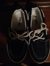 Gymboree Boys Canvas Docksiders Shoes Navy Boat Casual Dress size 13