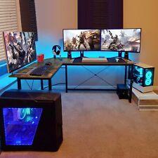 L-Shaped Desk Corner Computer Gaming Laptop Table Workstation Save Space Home