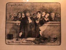 HONORE DAUMIER France 1808 -1879 Lithograph Les Gens de Justice La Plaidoirie