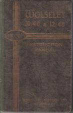 Wolseley 10/40 & 12/48 SERIE II 1936-1937 ORIGINALE UK FACTORY LIBRETTO DI USO E MANUTENZIONE