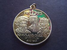 1973 Rex KINGS+QUEENS OF FACT+FANTASY Gold-Plated SterlingSilver MardiGras Charm