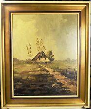 Altes Bild Öl Sommer Dorf Gemälde Ölbild signiert E.Zeilinski