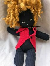"Handmade One-Of-A-Kind African American ""Sock"" Doll Adorable, Ooak"