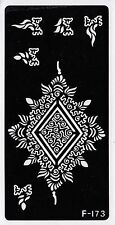 F173 Body Art Temporary Glitter Tattoo Stencil Henna Pattern