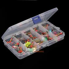 New 30pcs/lot Fishing Lures Spinner Baits Crankbait Assorted Fish Tackle Hooks