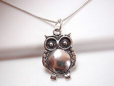 Night Owl Pendant 925 Sterling Silver Corona Sun Jewelry nightlife