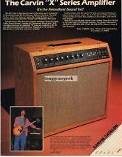 1982 CARVIN X Series Amp FRANK ZAPPA Vtg Print Ad