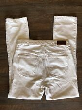 Lauren by RALPH LAUREN ~Women's Jeans Premier Straight Jean ~ Size 12 ~ Cream