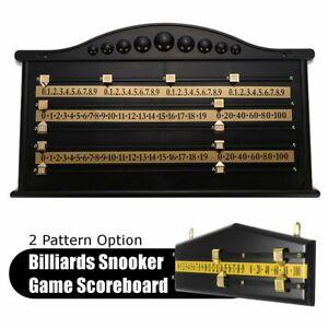 35/69CM Billiards Segnapunti Biliardo Gioco Scorer Tavola Giocatore Calcolatore