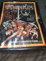ThunderCats Jumbo Action Figure Collectors Case Unused In Fair Condition f 1980s