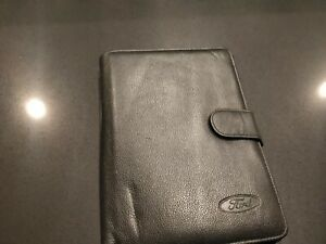 FORD FAIRMONT GHIA EL OWNERS MANUAL LEATHER WALLET - GENUINE 1996-1998 TICKFORD
