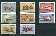 Liberia 2003 MNH World of Trains 8v Set Railways Chapelons Bullet Train Stamps