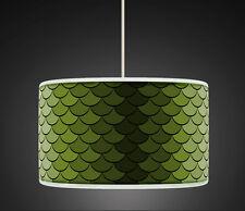 20cm Green  Retro Geometric Handmade Giclee Style fabric lampshade pendant 458