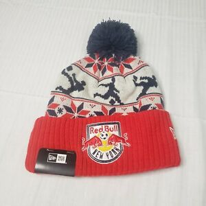New York Red Bulls MLS Soccer New Era Winter Ski Knit Hat Beanie New W/Tags