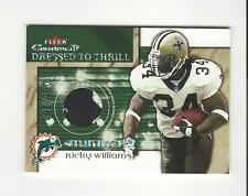 2002 Fleer Maximum Dressed to Thrill Numbers Ricky Williams PATCH Saints /250