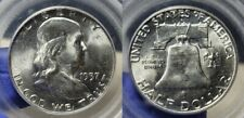 1957 D Silver Franklin Half Dollar 50c PCGS 64 FBL Old PCGS Holder