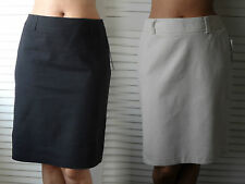 New Woman's Ladies Smart Office Fully Lined Linen Cotton Blend Knee Length Skirt