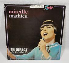 """Mireille Mathieu En Direct De L'Olympia 33RPM 12"""" Vinyl Record MINT"""