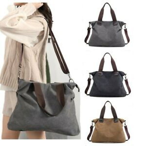 Women Canvas Shoulder Bag Large Messenger Tote Bags Handbag Travel Hobo Bag