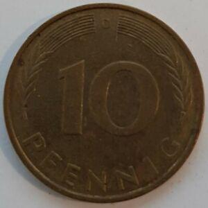 Old Coin 1989 German Ten Phennig