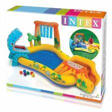Piscina gonfiabile gioco per bambini dinosauro con scivolo intex 57444 acqua